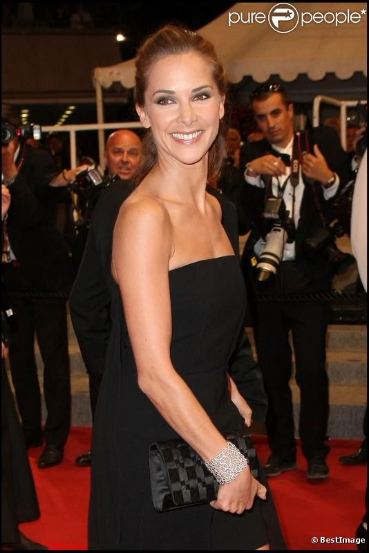 Melissa Theuriau en mai 2010 au 63e Festival de Cannes