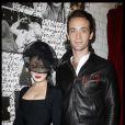 Dita Von Teese et son compagnon Louis Marie de Castelbajac lors de la soirée Maison Michel & Rika Magazine à Paris le 2 octobre 2011?