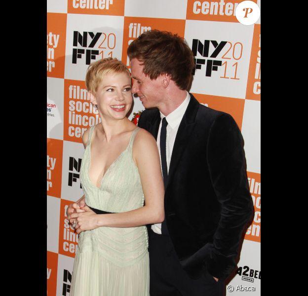 Michelle Williams et Eddie Redmayne lors de la première du film My Week with Marilyn à New York le 9 octobre 2011