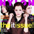 Emma Watson fait la couverture du magazine Nylon. Edition d'octobre 2012