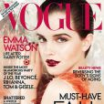 C'est dans une robe pailletée Prada que Emma Watson a décroché sa première couverture du Vogue. Juillet 2011.