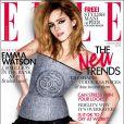 Emma Watson, d'humeur rock et sauvage, en Une du Elle anglais d'août 2009.