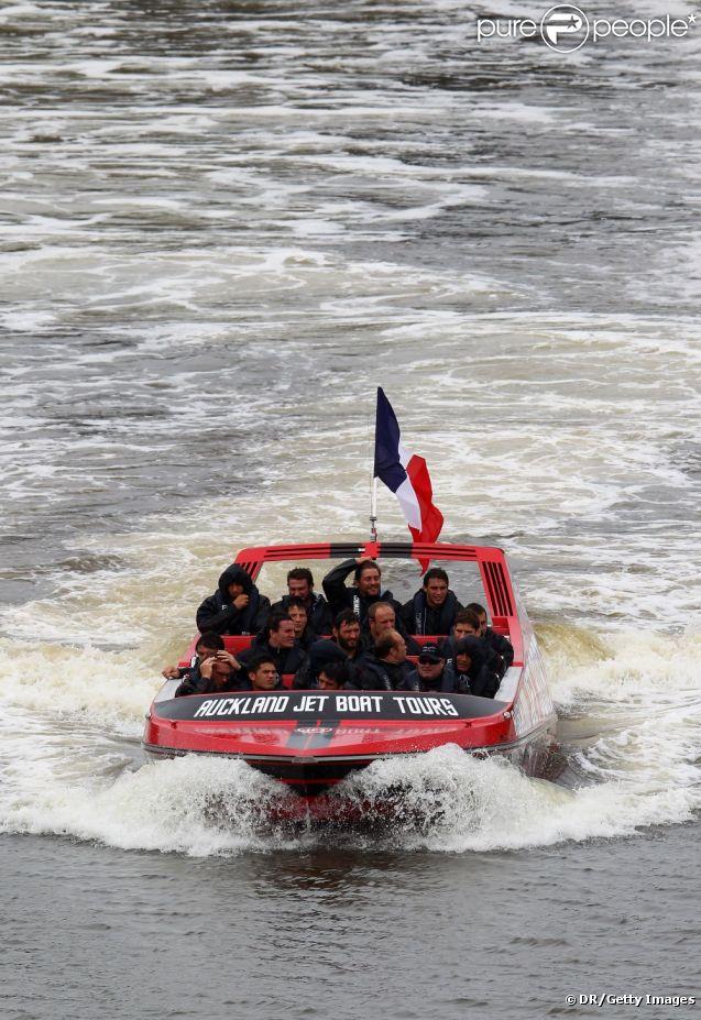L'équipe de France le 17 octobre 2011 à Riverhead au nord-ouest d'Auckland