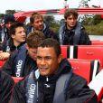 Thierry Dusautoir et l'équipe de France le 17 octobre 2011 à Riverhead au nord-ouest d'Auckland