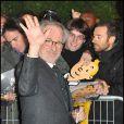 Steven Spielberg à l'avant-première des  Aventures de Tintin : Le Secret de la Licorne , à Paris, le 22 octobre 2011.
