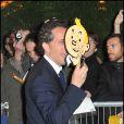 Gad Elmaleh à l'avant-première des  Aventures de Tintin : Le Secret de la Licorne , à Paris, le 22 octobre 2011.
