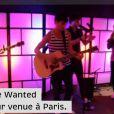 The Wanted de passage à Paris à l'été 2011 pour présenter le single  Glad you came  dans les locaux d'Universal