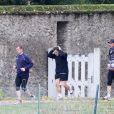 Nicolas Sarkozy fait son jogging dans le parc du château de Versailles, le 30 octobre 2011.