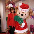 Audrey Pulvar pose à l'occasion de la soirée de lancement des festivités de Noël aux parcs Disneyland Paris, le samedi 5 novembre 2011.