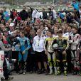 Tous les pilotes ont rendu hommage à Marco Simoncelli lors du grand prix de Valence le 6 novembre 2011