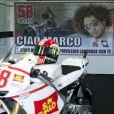 Hommage à Marco Simoncelli lors du grand prix de Valence le 6 novembre 2011