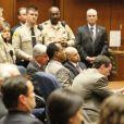 Le docteur Conrad Murray lors de l'énoncé de son verdict le 7 novembre 2011. Il a été menotté puis conduit en prison