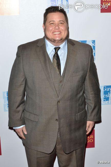 Chaz Bono pose sur le tapis rouge du gala organisé par le Gay and Lesbian Center de Los Angeles, le samedi 12 novembre 2011.
