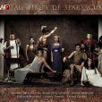 Les animateurs de W9 prennent la pose pour la promo de la série Spartacus