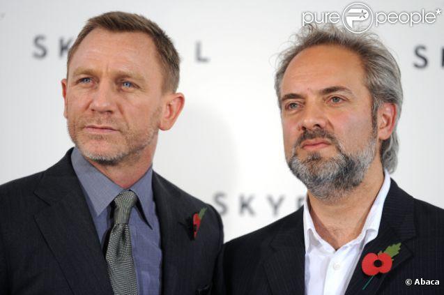 Daniel Craig et Sam Mendes le 3 novembre 2011 à Londres.