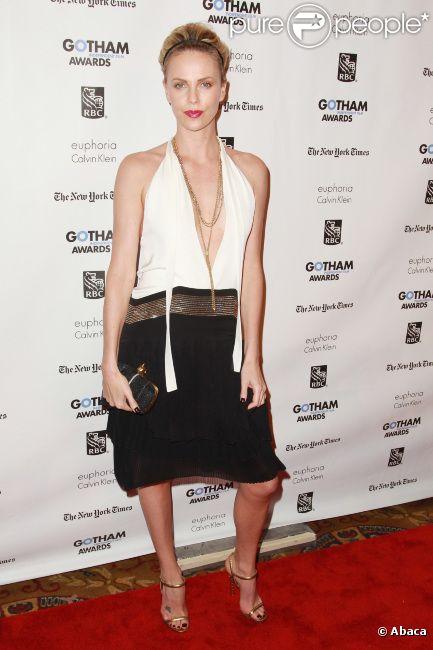 Charlize Theron lors de la remise de prix des Gotham Independent Film Awards à New York du 28 novembre 2011