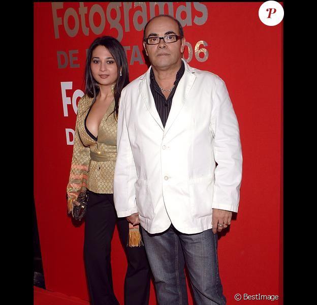 Eduardo Cruz, père de Penélope, et sa seconde femme Carmen Moreno, en 2007 à Madrid