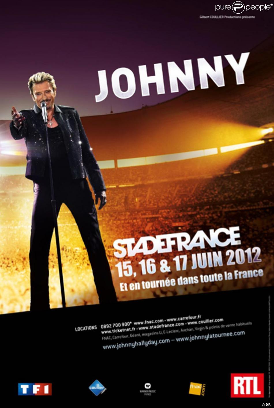 Affiche Concert l'affiche du concert de johnny hallyday au stade de france. - purepeople