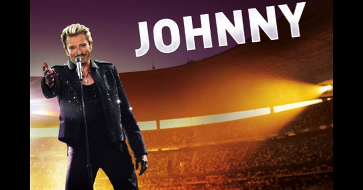 l 39 affiche du concert de johnny hallyday au stade de france purepeople. Black Bedroom Furniture Sets. Home Design Ideas
