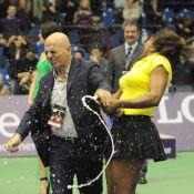 Serena et Venus Williams : Bouteille de champagne explosée et un court baptisé !