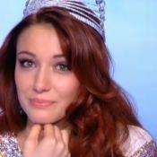 Miss France 2012 - Delphine Wespiser : émue après un message de son petit ami