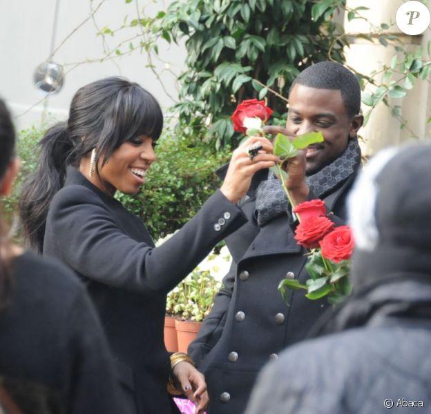Kelly Rowland et Lance Gross tournent le clip de Keep It Between Us dans les rues de Paris le 23 novembre 2011