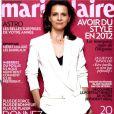 Juliette Binoche en couverture de Marie Claire du mois de janvier 2012