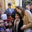 Carla et Nicolas Sarkozy ont accueilli les enfants pour le Noël de l'Elysée ce mercredi 14 décembre 2011