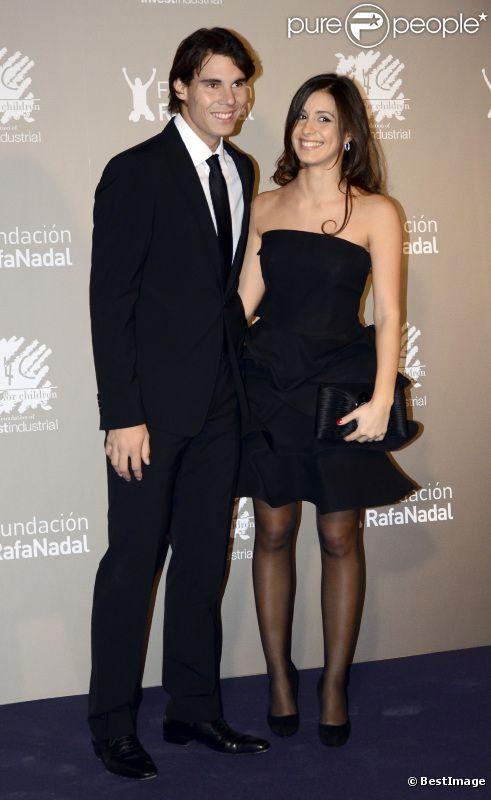 Rafael Nadal et Fransisca Perello le 15 décembre 2011 au Palais National de Catalogne à Barcelone pour le gala  Together for the Integration