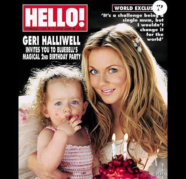 Geri Halliwell en couv de Hello avec sa fille Bluebell