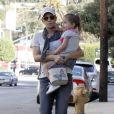 Halle Berry et sa fille Nahla à la sortie de l'école le 5 janvier 2012