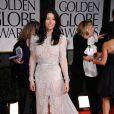 Jessica Biel, magnifique lors des Golden Globes dimanche 15 janvier à Los Angeles. La comédienne ne portait pas de bague de fiançailles...