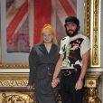 Vivienne Westwood et son mari Andreas Kronthaler à Milan, le 15 janvier 2012.