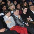 Jean-Paul Enthoven, Bruno de Stabenrath, Regis Jauffret, Christine Angot et Bernard Henry Lévy, lors de la remise du prix Saint-Germain à Paris le 18 janvier 2012