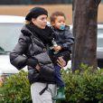 """""""Ellen Pompeo et sa délicieuse fille à Los Angeles le 21 janvier 2012"""""""