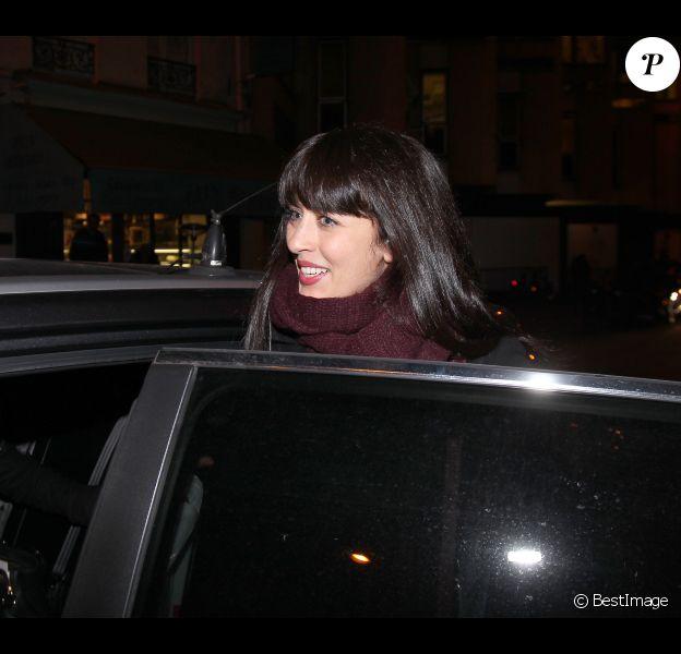 Nolwenn Leroy à la sortie de la radio RTL après avoir reçu son prix RTL-Le Parisien-Aujourd'hui en France à Paris le 27 janvier 2012