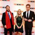 Tom Hardy, Reese Witherspoon et Chris Pine lors de l'avant-première du film Target à Londres le 30 janvier 2012