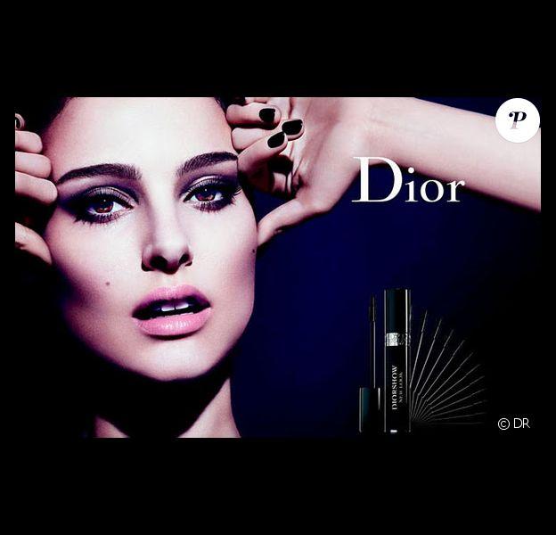 Natalie Portman sur le visuel de campagne Dior Show de Dior
