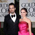 Natalie Portman et Benjamin Millepied lors des Golden Globes 2012