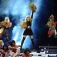 Madonna entourée de Nicki Minaj et M.I.A au Super Bowl à Indianapolis, le 5 février 2012.