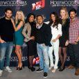 Kévin, Caroline, Ayem, Kamel,Laura, Sylvia et Nicolas lors de la conférence de presse de NRJ 12 pour Hollywood Girls - Une nouvelle vie en Californie à Paris le 20 février 2012