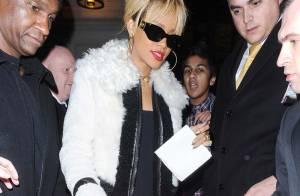 Rihanna, sublime blonde hollywoodienne, fête ses 24 ans dans un bain de foule