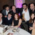 Maïwenn Naidra Ayadi, Alain Attal et leurs amis au Dîner des producteurs, à Paris le 20 février 2012.
