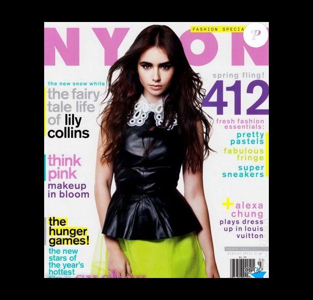 Lily Collins dans le magazine Nylon de mars 2012