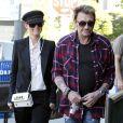 """""""Laeticia et Johnny Hallyday dans les rues de Los Angeles, le 8 février 2012."""""""