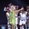 Alessandra Sublet en Lady Gaga. 27e Victoires de la Musique, le 3 mars 2012 au Palais des Congrès de Paris.