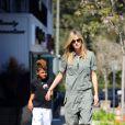 Heidi Klum emmène son fils Henry à son cours de karaté, à Los Angeles le 3 mars 2012.