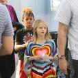 Leni et Henry vont au cinéma avec leur mère Heidi Klum, à Los Angeles le 3 mars 2012.