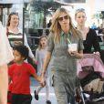 Heidi Klum et ses enfants vont au cinéma, à Los Angeles le 3 mars 2012.
