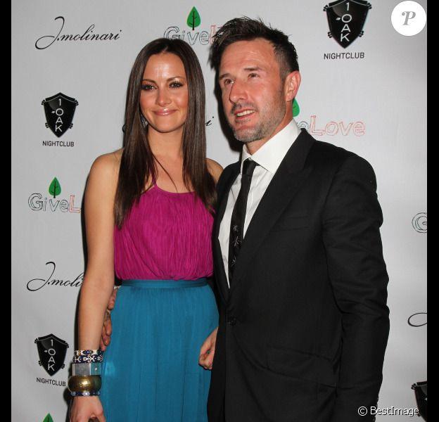 Christina McLarty et David Arquette, amoureux, en janvier 2012 à Las Vegas